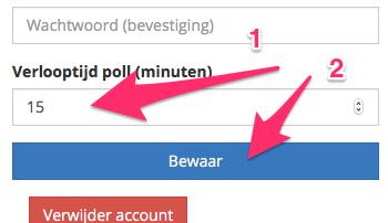 Pas de geldigheidsduur van polls aan (stap 3)